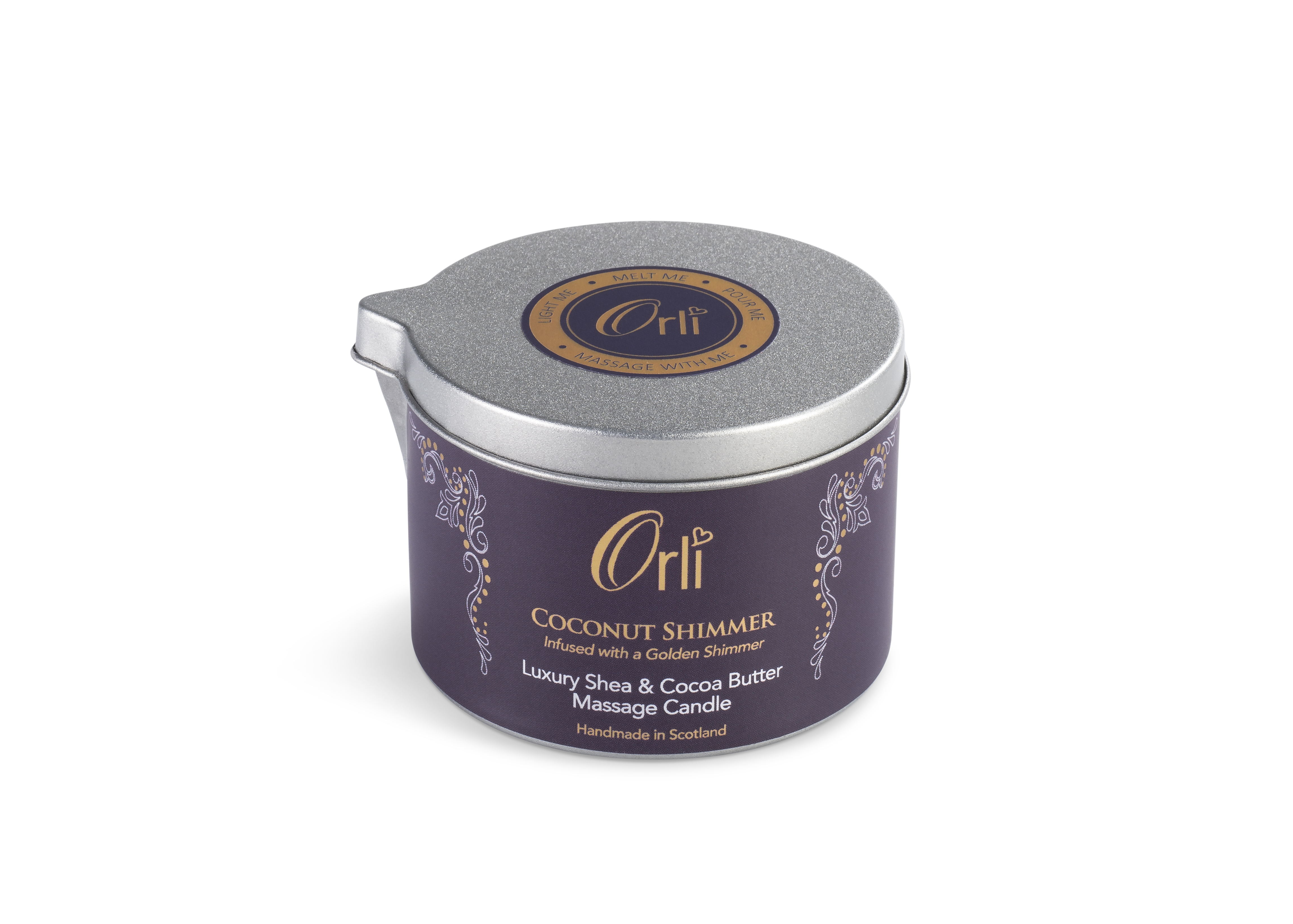 Coconut Shimmer Massage Candle by Orli