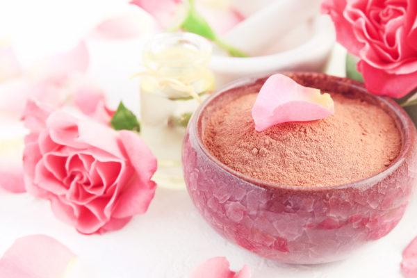 rose quartz crystal face mask