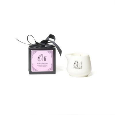 Rose & Rhubarb Ceramic Massage Candle