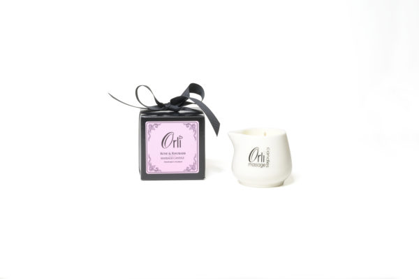 Rose & Rhubarb Ceramic Massage Candle